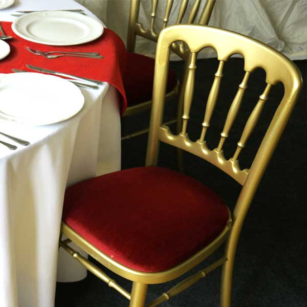 Cheltenham Gilt Chair Red