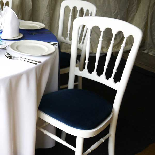 Cheltenham White Chair Blue