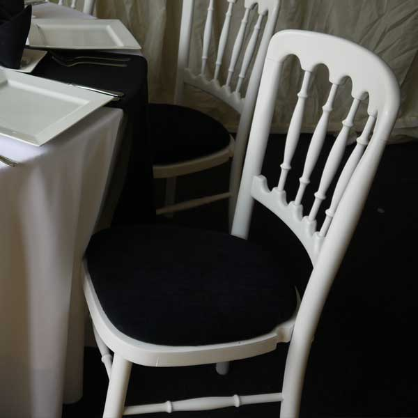 Cheltenham White Chair Black